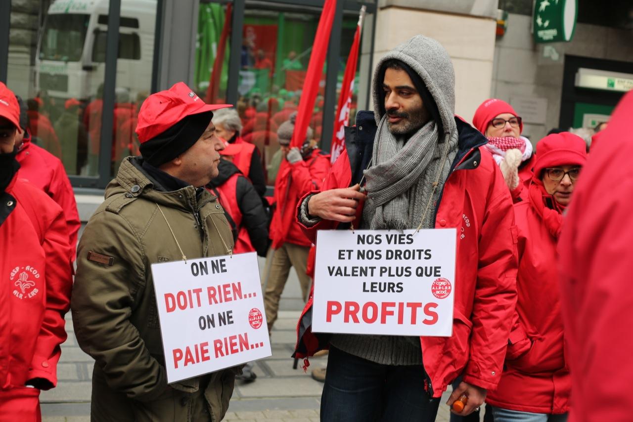 """Manifestation : """"Pas de paix sociale dans les services publics!"""""""