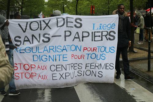 Liège : Solidarité avec l'occupation des sans-papiers de Sclessin