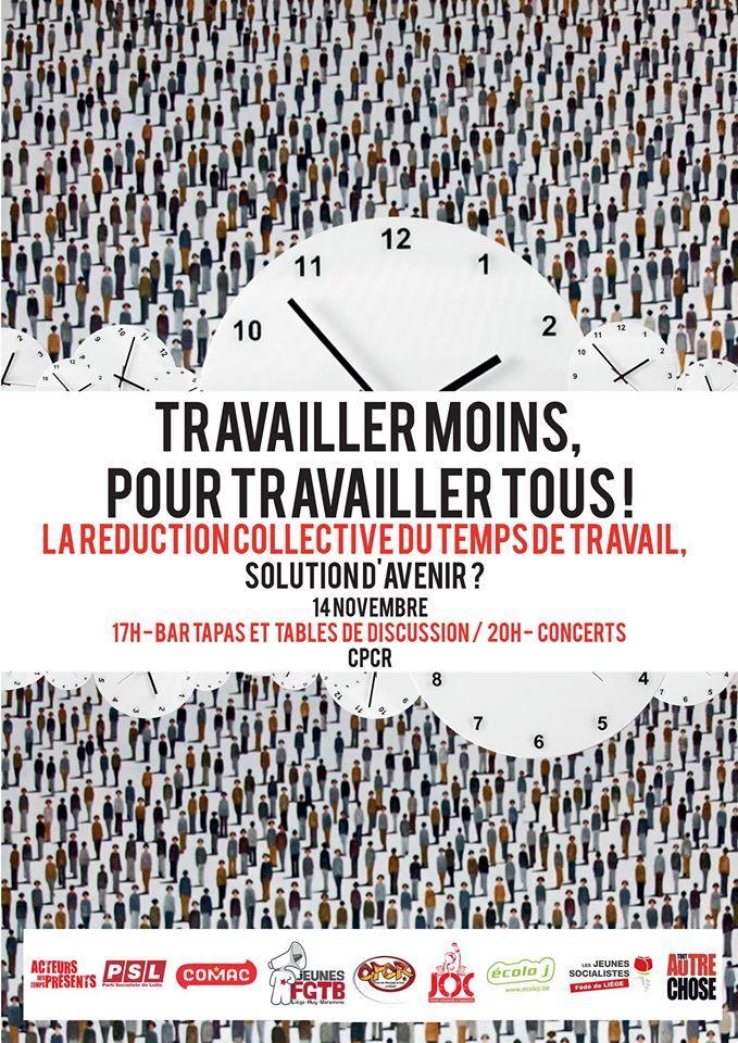 Liège. Bar Tapas & rencontre autour de la Réduction Collective du Temps de Travail