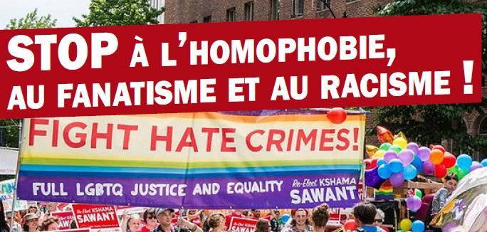 STOP à l'homophobie, au fanatisme et au racisme !