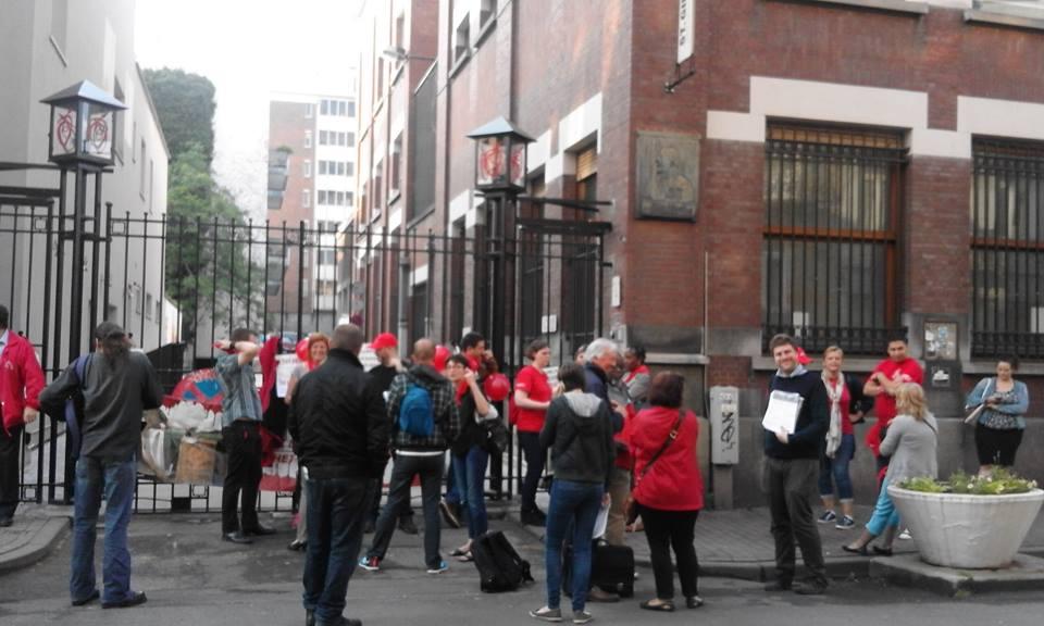 Bruxelles. Piquet de grève au CPAS de Saint Gilles