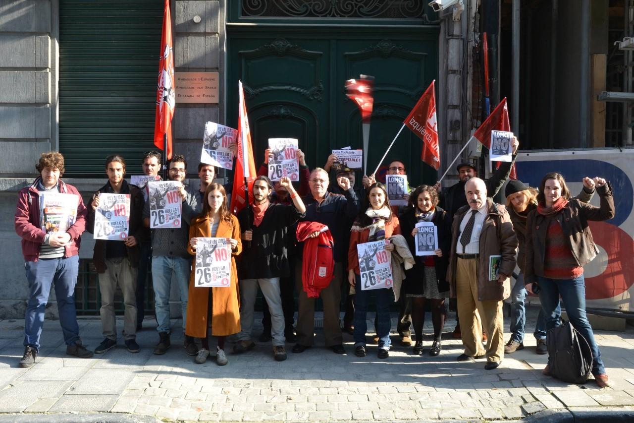 Actions de solidarité avec la grève de la jeunesse espagnole