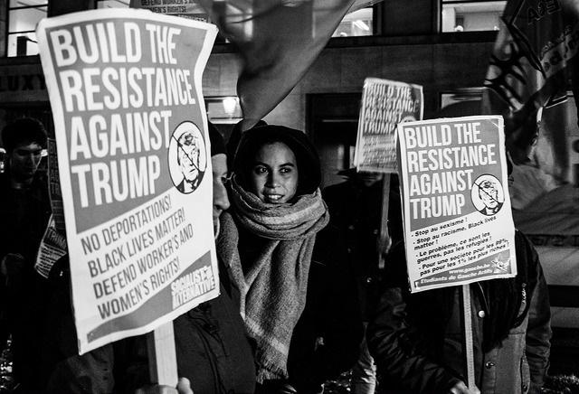 """Actions """"Stop-Trump"""" à Bruxelles et à Gand"""