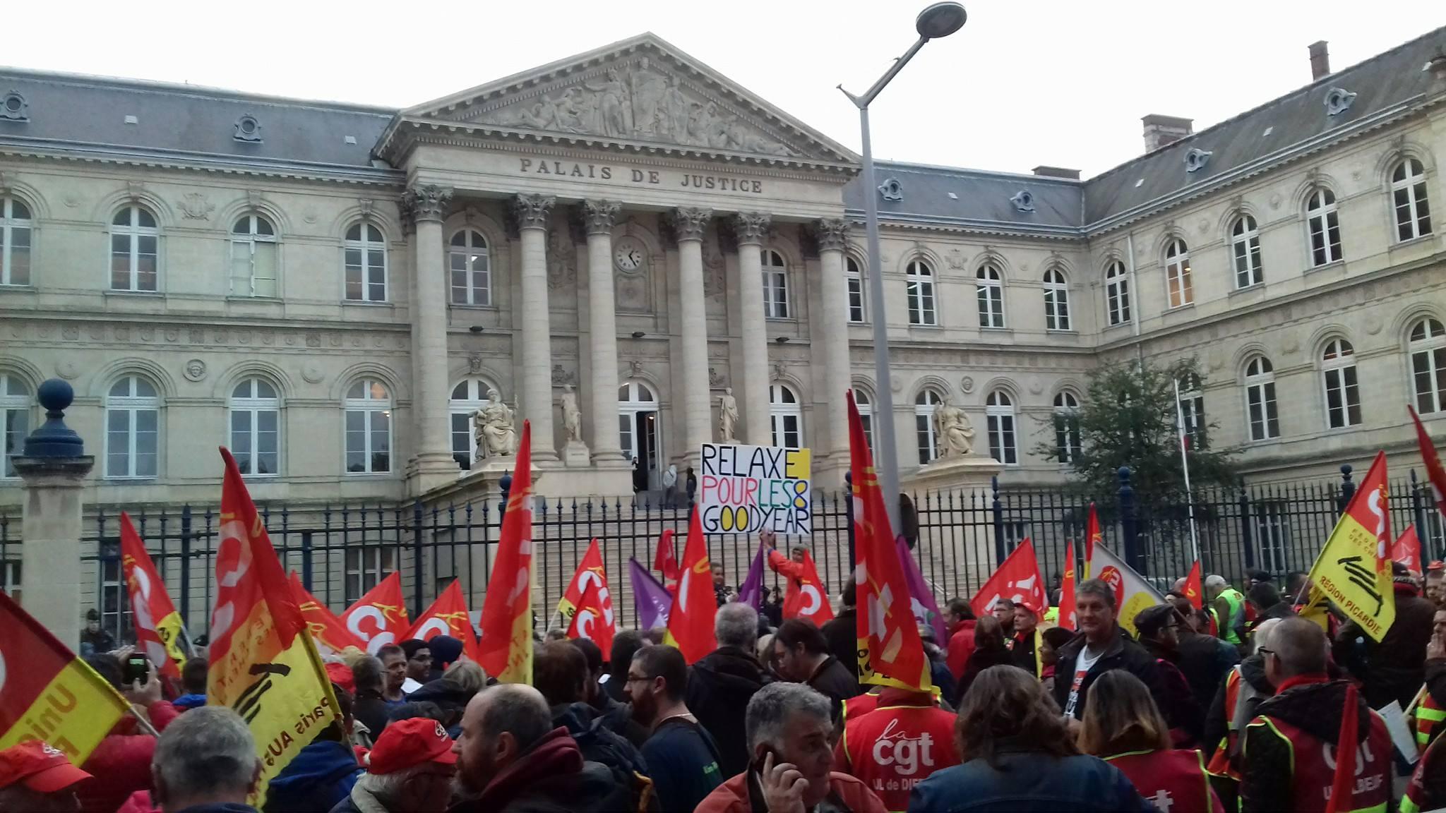 France. Huit de Goodyear: assez des poursuites judiciaires contre ceux et celles qui luttent!