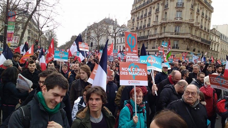 Marche de la «France Insoumise» du 18 mars