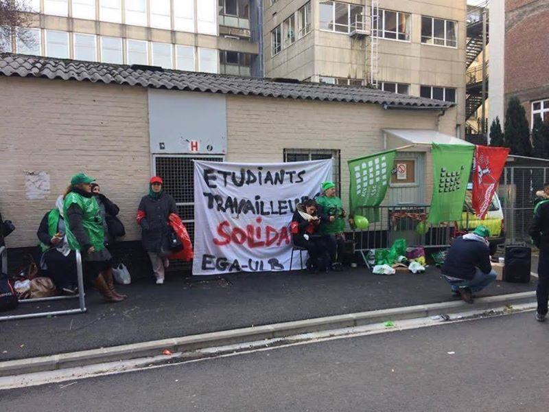 Grève du personnel de nettoyage à l'ULB