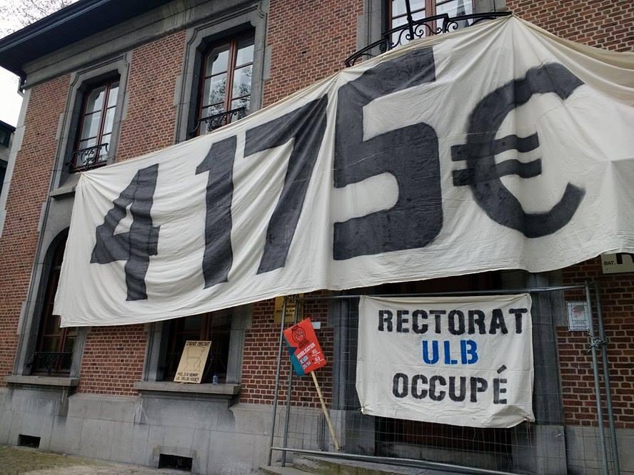 Occupation à l'ULB en solidarité avec les étudiants étrangers