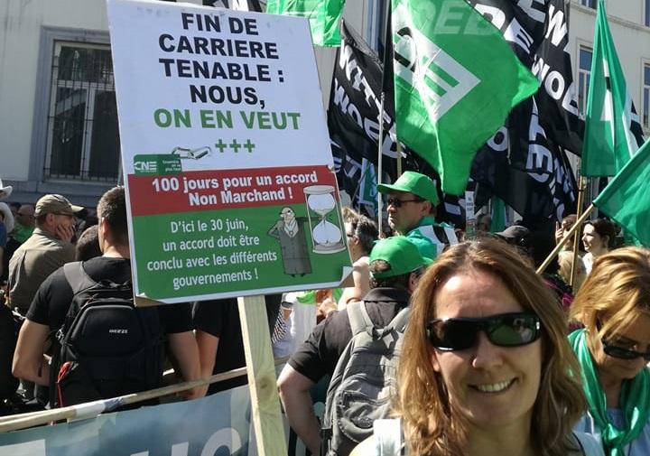 Manifestation du non-marchand : il nous faut un refinancement public !