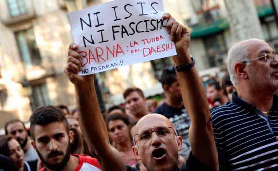 Massacre à Barcelone. Solidarité avec les victimes.