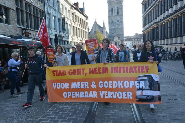 Gand. Manifestation pour des transports en commun plus nombreux et moins chers