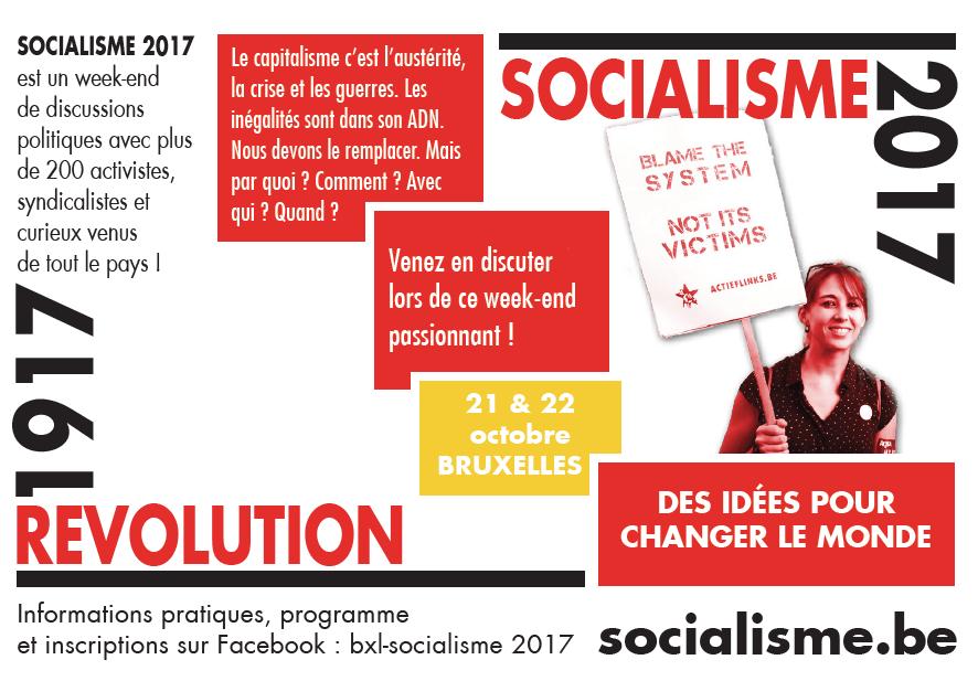 Participez au week-end Socialisme 2017 !