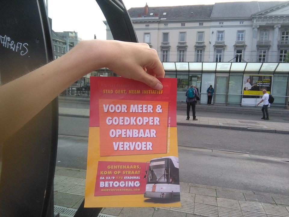 Gand. Manifestation en faveur de transports publics plus nombreux et moins chers
