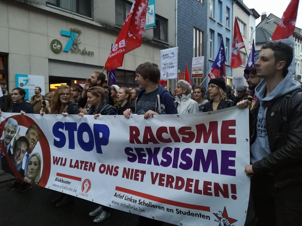Anvers. Marche contre la politique migratoire raciste de Theo Francken