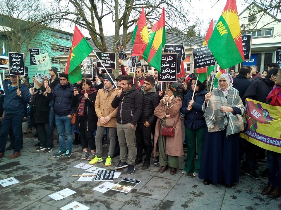 Bruxelles : action de soutien aux masses iraniennes