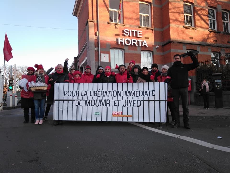 Solidarité avec Mounir et Jiyed! Contre le racisme du gouvernement, la solidarité des travailleurs