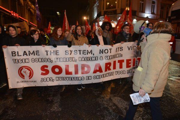 Manifestation antiraciste réussie à Gand. Solidarité internationale contre le racisme et le sexisme !
