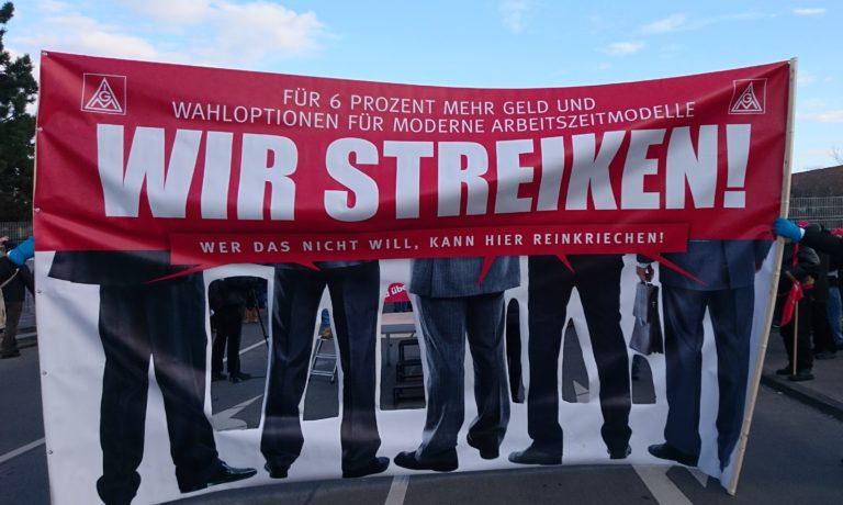 Les métallos allemands arrachent une augmentation de salaire. Mais plus était possible!