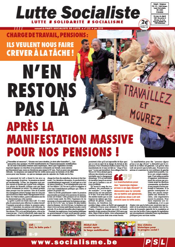 N'en restons pas là après la manifestation massive pour nos pensions !