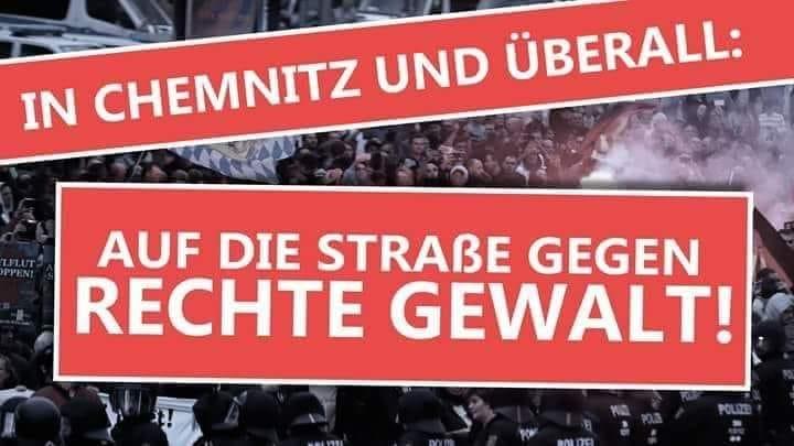 A Chemnitz et ailleurs : stoppons les nazis et les racistes !