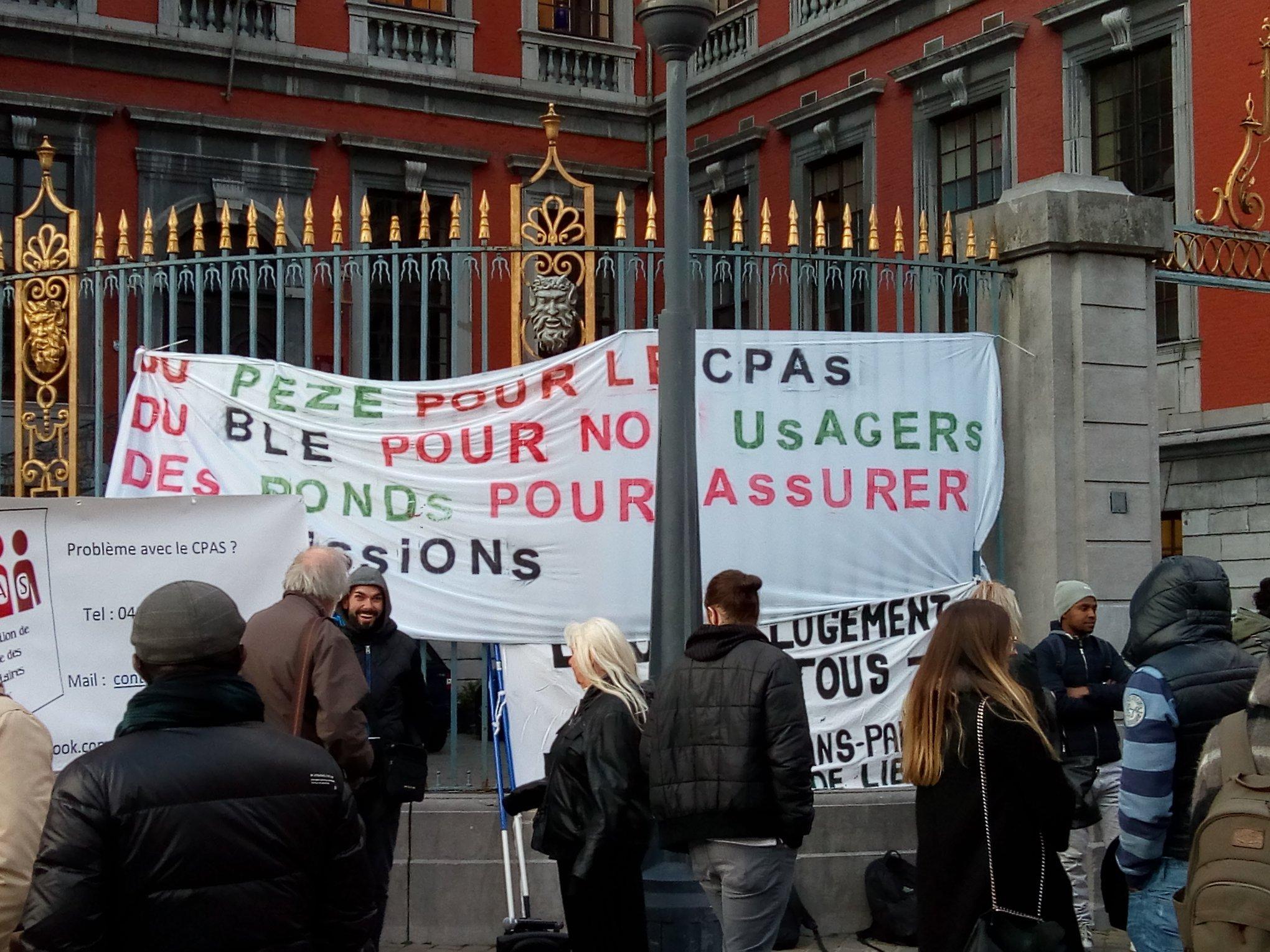 Usagers et travailleurs du CPAS de Liège : la même grogne