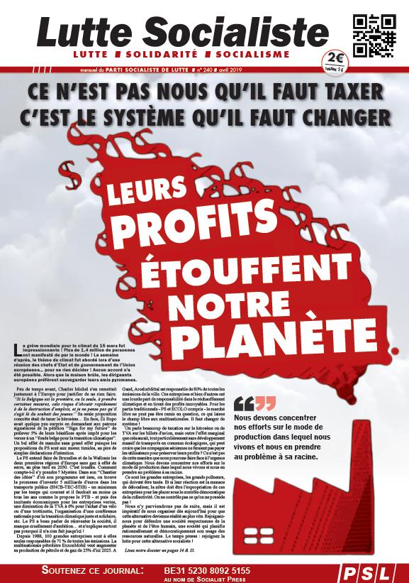 Leurs profits étouffent notre planète !