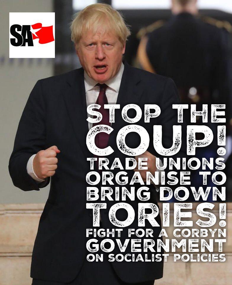 Grande-Bretagne. Suspension du Parlement: Luttons pour des élections générales immédiates !
