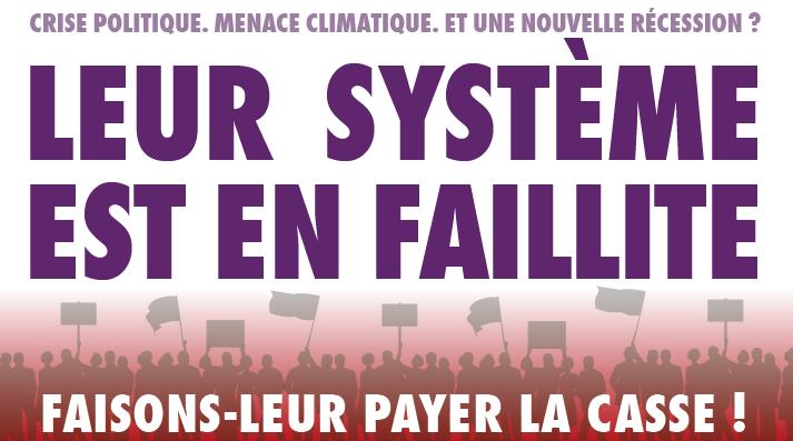 Leur système est en faillite : faisons leur payer la casse !