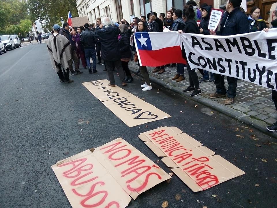 Rassemblement de soutien à la lutte du peuple chilien