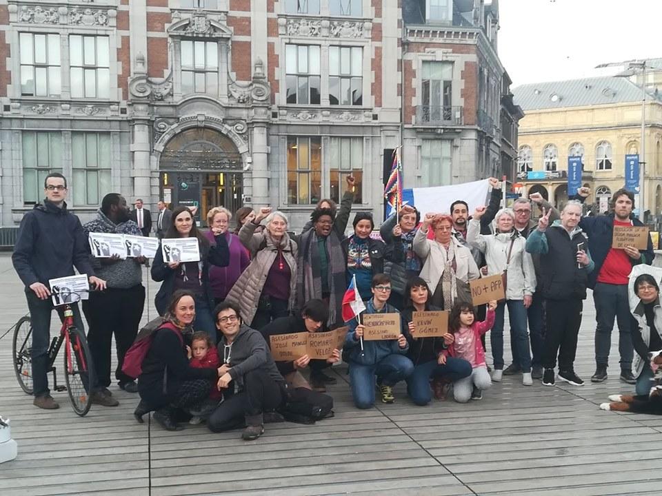 Actions de solidarité avec le peuple chilien en lutte à Anvers, Bruxelles, Gand, Louvain et Namur