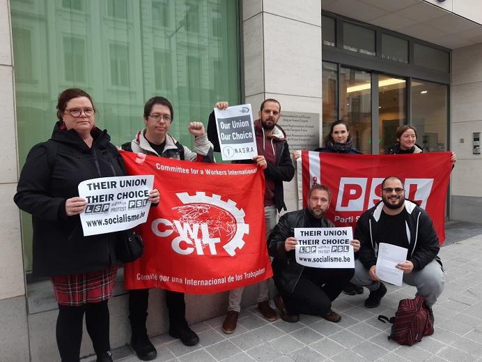 Action de solidarité pour la reconnaissance syndicale des ambulanciers en Irlande