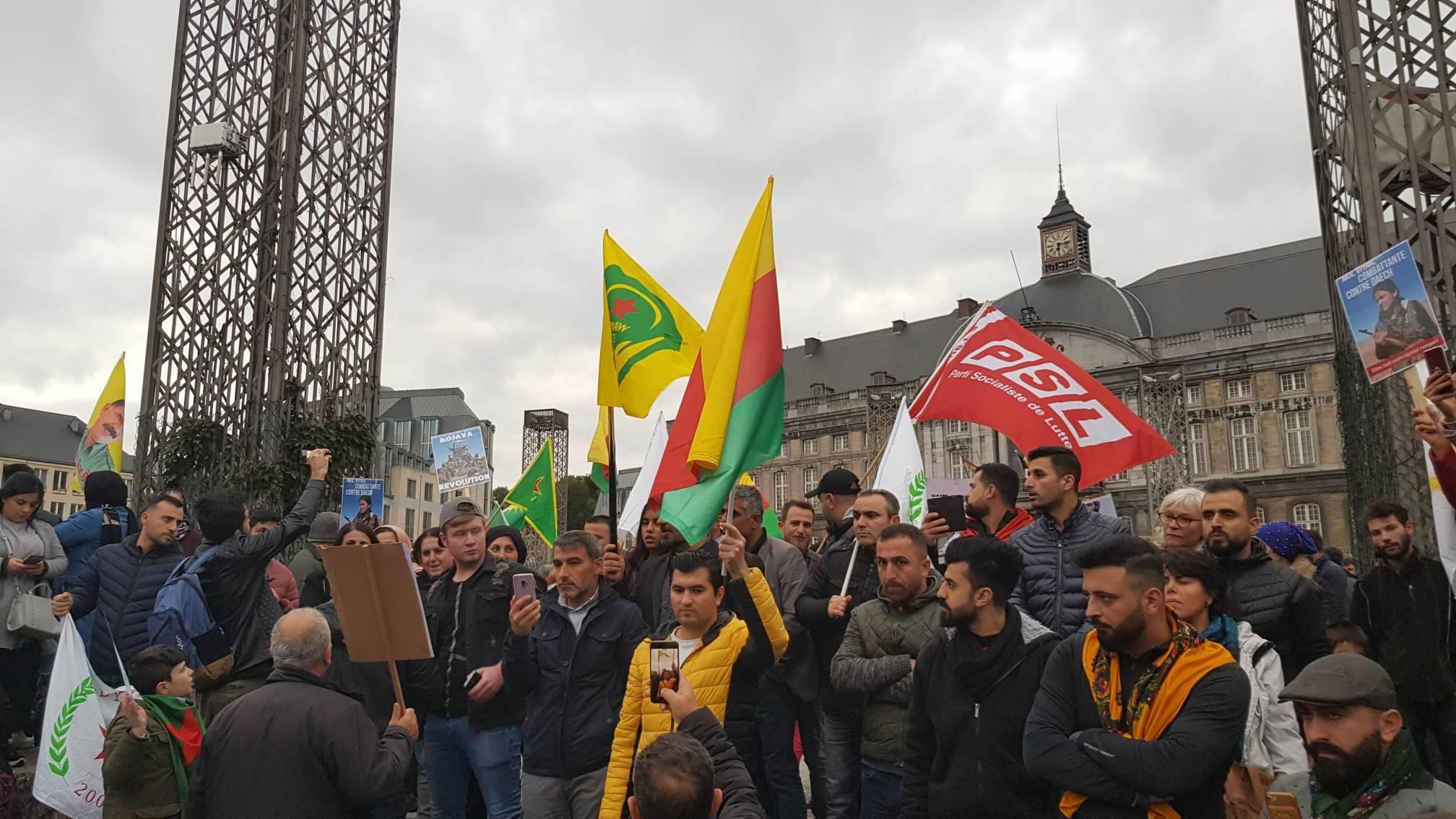 Bruxelles & Liège : Rassemblements de solidarité avec le Rojava
