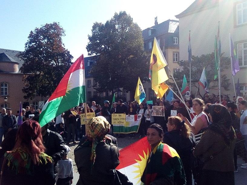 Au Grand Duché aussi, on proteste contre l'invasion du Rojava !