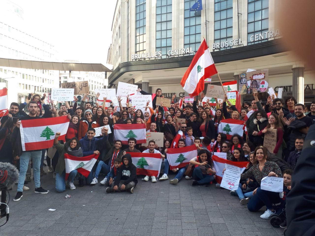 Rassemblement de solidarité avec le soulèvement de masse au Liban