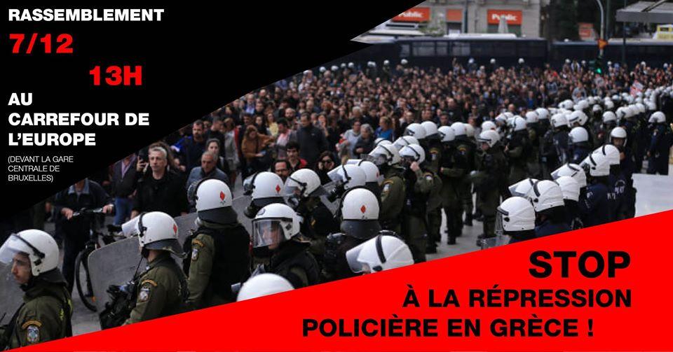 Action de solidarité contre la répression policière en Grèce