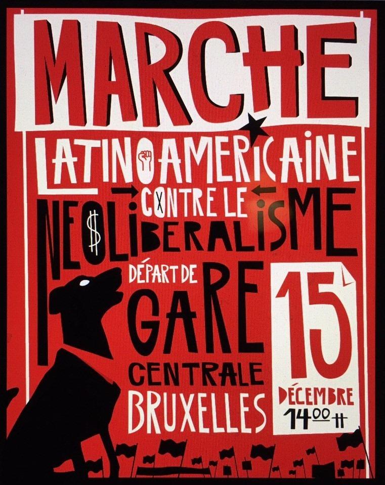 Marche latino-américaine contre le néolibéralisme à Bruxelles