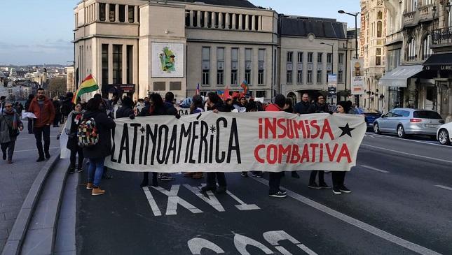 [PHOTOS] Marche latino-américaine contre le néolibéralisme à Bruxelles