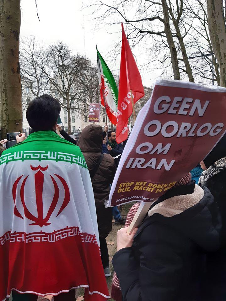 Iran. Première action anti-guerre à Bruxelles