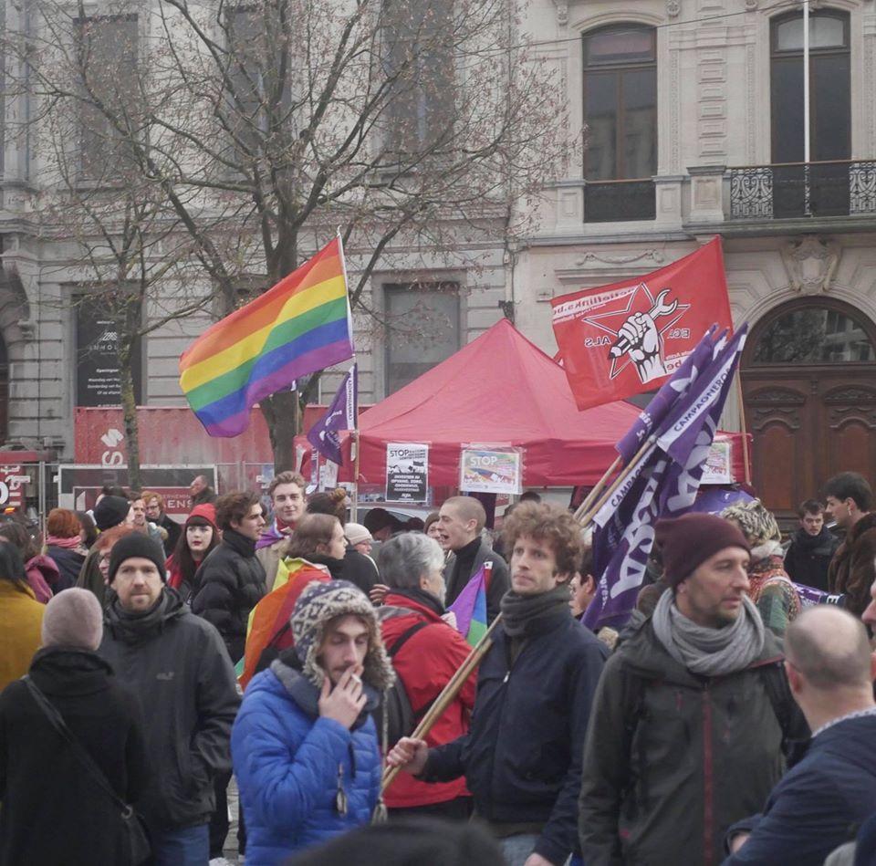 Gand. Grande participation à la manifestation contre les violences homophobes